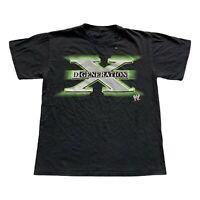 D-Generation X Wrestling WWE Black Logo Spell Out T Shirt Triple H Men's Small