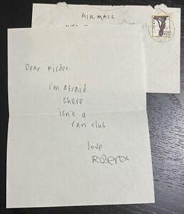 ROBERT SMITH-THE CURE HAND WRITTEN LETTER (AUTOGRAPH) 1982 *UNIQUE ITEM*