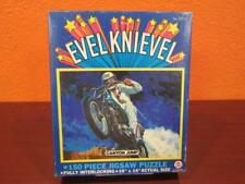 1974 EVEL KNIEVEL CANYON JUMP DAREDEVIL MOTORCYCLE PUZZLE & BOX COMPLETE - NICE!