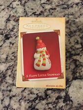 Hallmark Keepsake Ornament - A Happy Little Snowman Dated 2005 MINT