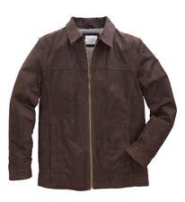 WILLIAMS & BROWN Leather Harrington Jacket