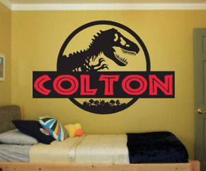 Dinosaur Name Wall Decal Sticker Large kids bedroom