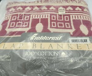 "Fieldcrest Lap Blanket Style15465 Fringed Ends ""Irregular"" New Old Stock"