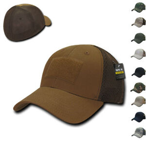 RAPDOM Military Operator Tactical Air Mesh Flex Low Crown Duty Patch Caps Hats