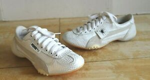 PUMA MIHARA YASUHIRO WHITE / SILVER LEATHER WOMANS SNEAKERS US SIZE 6