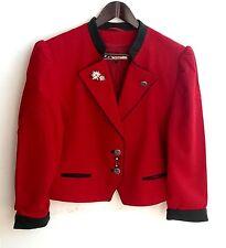 Damen Trachten Janker Jacke rot m. Stickerei Gr. 42 v. Alphorn