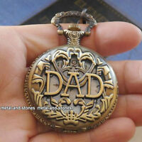 Fathers Day Gift DAD Pocket Watch Daddy Grandad Mens Father Gift For Him Present