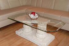 Rechteckiger Tisch Glastisch Wohnzimmertisch Marmortisch Säulentisch 120cmx60cm