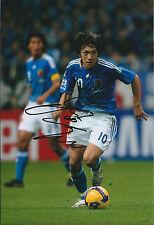 Shunsuke NAKAMURA SIGNED Autograph 12x8 Photo AFTAL COA YOKOHAMA Japan Football