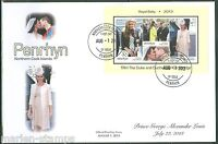 PENRHYN   2013 BIRTH OF PRINCE GEORGE SOUVENIR SHEET FIRST DAY COVER