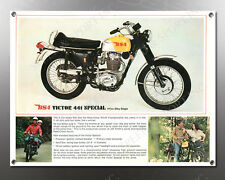 VINTAGE BSA VICTOR 441 SPECIAL IMAGE BANNER NOS IMAGE REPRODUCTION