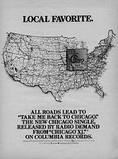 """1978 CHICAGO """"CHICAGO XI"""" ALBUM PROMO AD"""