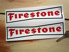 "FIRESTONE 9"" 'Dicky-Bow' Racing Rally Car Sticker Race"