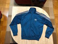 Orginal Adidas Firebird Jacke Gr. L blau/silber Traningsjacke retro