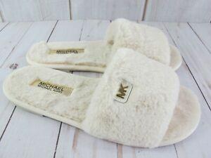 Michael Kors Jet Set Faux Fur Slide Sandal ~ Size 7