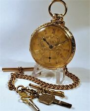 18K Solid Gold Taylor Liverpool Fusee Movement, Run and Look Great, 101 grams