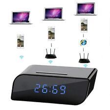 Sale 720P HD Wireless Wifi IP Clock Spy Hidden Camera IR Security Cam DVR