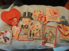 Valentine Card (s) 10 Lot Used Fold out fancy Sweet Victorian Vintage