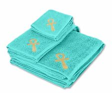 Eastern Touch 600 GSM Egyptian Cotton 6 Piece Towel Set - Ocean Key of Life