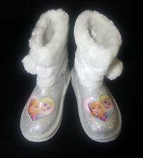 Disney Frozen Anna/Elsa Glitter Faux Fur Pom-Poms Toddler Girl's SZ 11M NWT