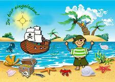 8 Einladungskarten Pirat Geburtstag Kinder Mottoparty Einladungen NEU