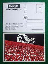 Cartolina Card DIABOLIK ill. Alfredo Castelli , Promocard n 208 (1991)