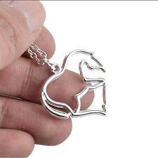 New Animal Horse Zinc Alloy Link Chain Pendant Necklace for Men or Women Sales