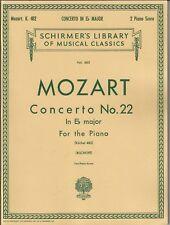 MOZART Op. 22 CONCERTO E FLAT MAJOR PIANO SOLO SHEET MUSIC BOOK TWO PIANOS