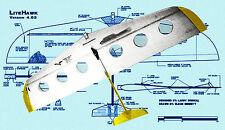 Model Airplane Plans 1/2A Control Combat LITEHAWK Full Size Printed Plans