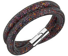 BN Swarovski Stardust Dark Multi Double Bracelet 38 cm Small 5184188
