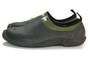 Lewis & Clark Shoes Green Black Rubber Outdoor Moc Muck Water Boat Garden Mens 7