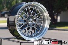 17x8.5 Inch +30 ESR SR01 5x120 Hyper Black Gunmetal Gray Wheels Rims e30 e36 e46