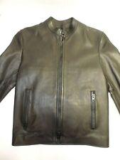 COACH Racer Black Leather Jacket Men Moto Biker Bomber $995 SZ XS