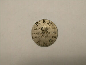 Pike A.M.G 8  Pike 3 A.M.G Transit Token Lancaster, Pennsylvania Toll Road