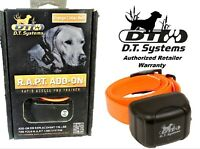 DT Systems Orange Extra Add-On Collar for RAPT 1400 Remote Dog Trainer