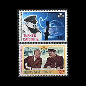 Turks & Caicos, Sc #297-98, MNH, 1974, Churchill & FDR, Complete set, AR5-C