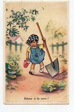 illustrateur Germaine BOURET . Enfant .Retour à la terre !...