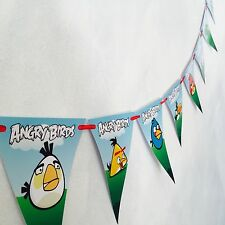1x Angry Birds Banner Bunting Flag. Party Supplies Lolly Loot Bag Room Deco