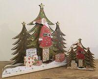 Father Christmas Scene Mantle Shelf Christmas Decoration Gisela Graham Vintage