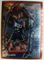 1996 96 TOPPS FINEST Ray Allen ROOKIE RC #22, W/ Peel Bucks HOF