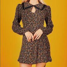 Valfré Shilloh Dress, Size S, Black Warm Floral Pattern