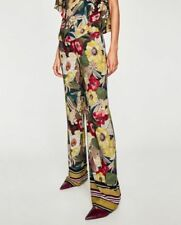 Viscose Flower High Trousers for Women