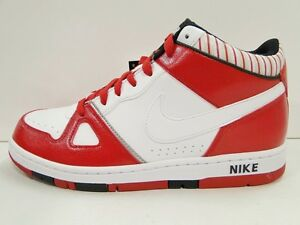 NIKE AIR PRIZE 2 MID MENS Red/White Patent 555271/116 LIMITED EDITION UK 7