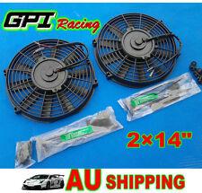 "2pcs 14"" inch 14V Universal Electric Radiator /Intercoole COOLING Fan +mount kit"