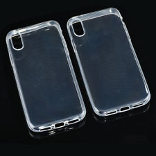 2x for Apple iPhone X Slim Clear Soft TPU Protective Back Skin Case Cover Bumper