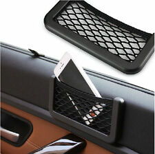 Auto Car Black Storage Net String Pouch Bag GPS Phone Holder Pocket Organizer N