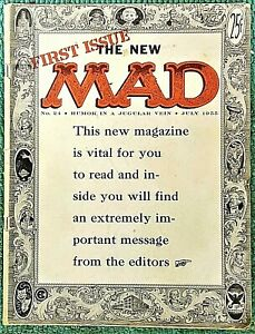 MAD Magazine #24 July 1955! VERY GOOD! 4.0 1st $0.25 Issue! SOLID! $0.99 Start!