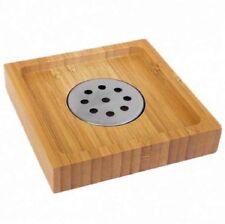 Natural Bamboo Wood Soap Dish Storage Holder Bath