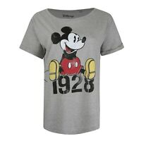 Disney - Mickey Year - Official - Ladies - T-shirt - Grey - Sizes S-XL