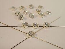 Facettierte Aufnähsteine Strasssteine, Kristall, 15 Stück #P33